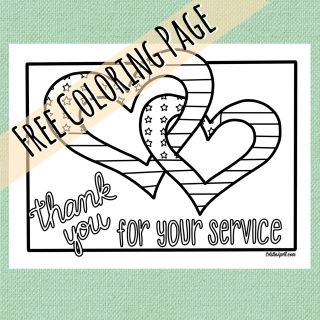 a free coloring page for veterans or any service member of