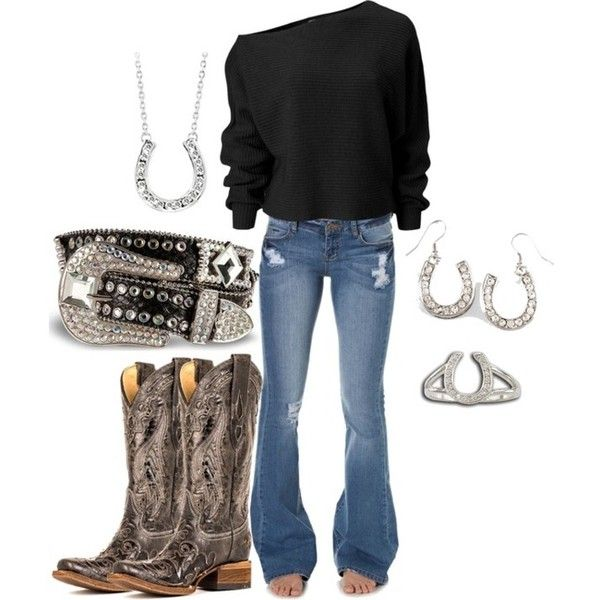 Cowgirl clothing ❤ liked on Polyvore