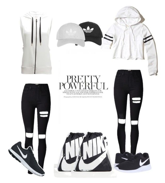 """Nike"" by vensku on Polyvore featuring NIKE, Topshop, Hollister Co. and Beyond Yoga"