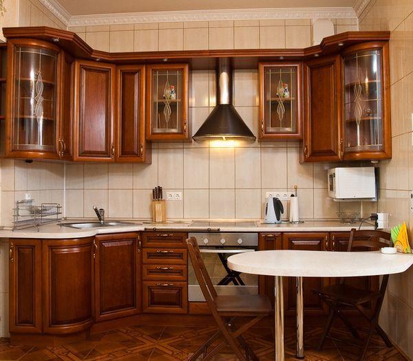 Кухни классика угловые, фото угловых гарнитуров в классическом стиле