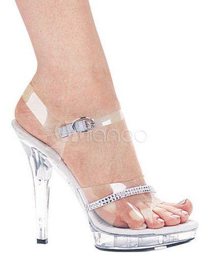Sandalias transparentes de PVC de estilo sexy - Milanoo.com