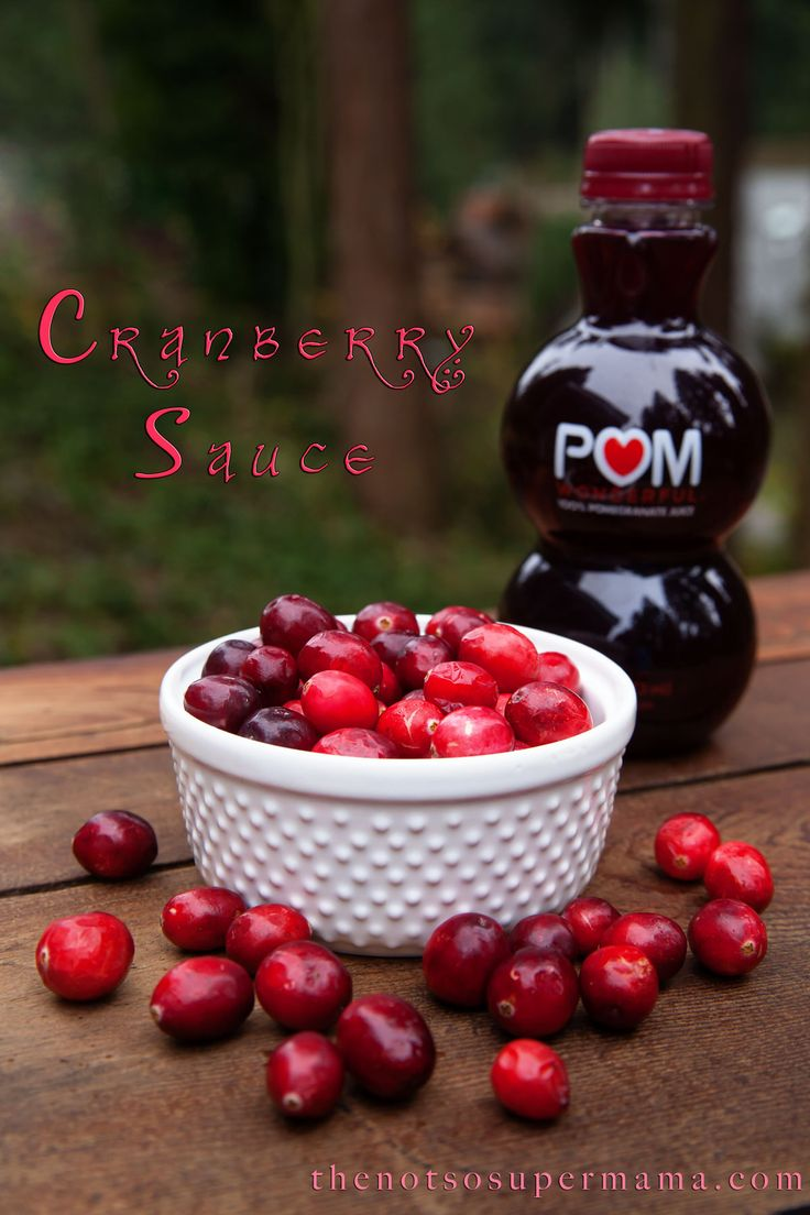 Homemade Cranberry Pomegranate Sauce | Food and Drink | Pinterest