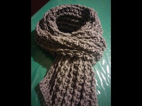 Sciarpa uomo all'uncinetto - Crochet scarf for man - YouTube