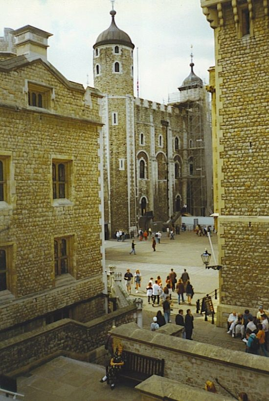 The White Tower, TOWER OF LONDON, UK... I love London! This was a cool, medieval place to visit. So many of the crown jewels are on display here. A lot of Beefeaters are walking around the place./ap