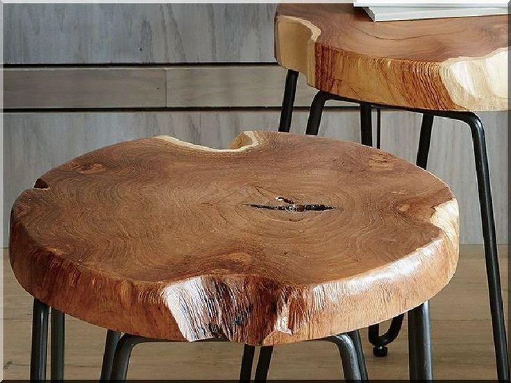 Szeletelt fakorongból ülőke