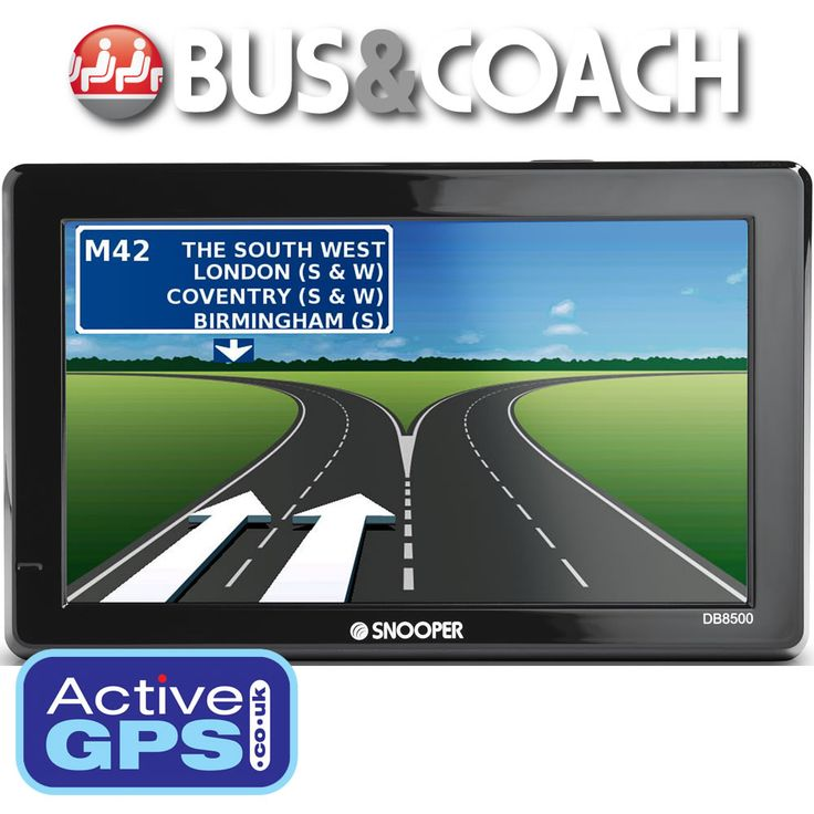 Snooper DB8500 Bus and Coach Pro Sound includes a large 7-inch slim wide touchscreen, DAB Digital Radio and DVB-T Digital TV. Also included is a speed camera detector, Lane Guidance and Junction View to help guide your bus or coach along your route with turn-by-turn voice directions. http://www.activegps.co.uk/snooper-db8500-bus-coach-pro-sound.htm