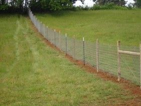 Field fence no climb