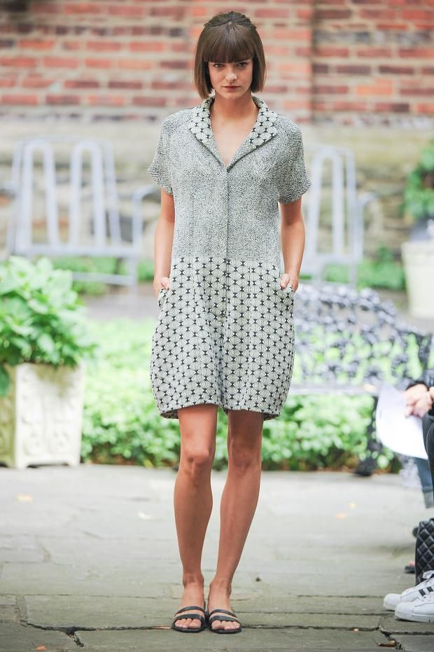 Yeohlee S/S '14 -- see Merchant and Mills' worker dress