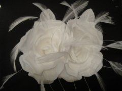 Double Silk Rose - White