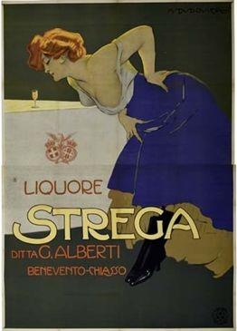 Poster by Marcello Dudovich (1878 - 1962), 1906, Liquore Strega.