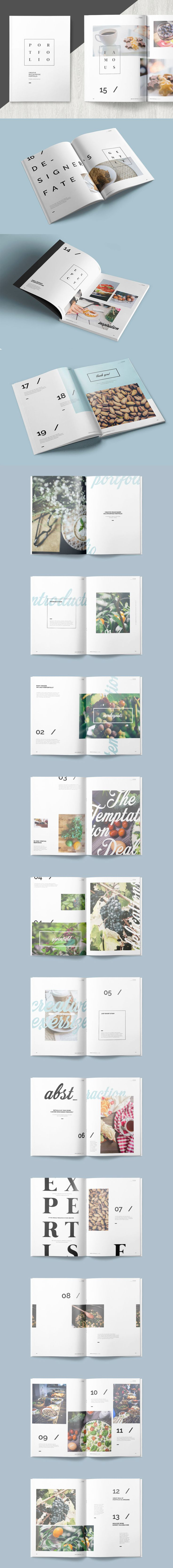 Multipurpose Portfolio Brochure Template InDesign INDD - 32 Pages, A4 International And Us Letter Size