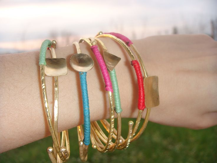 Colorful bracelets, green:hope, blue:calmness, pink:femininity, red:action. The rainbow symbolizes happiness and is a good omen for those who see it. This alone demonstrates the power of color! by Efstathia.