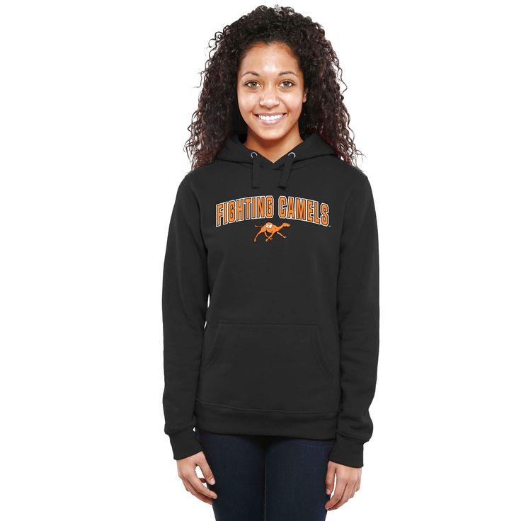 Campbell Fighting Camels Women's Proud Mascot Pullover Hoodie - Black - $64.99