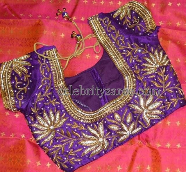1000  images about Heavy work bridal blouse designs on Pinterest ...
