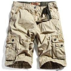 algodón para hombre bolsillos múltiples colores sólidos finos pantalones cortos casuales
