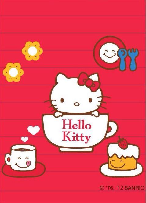 Hello Kitty with smiling objects