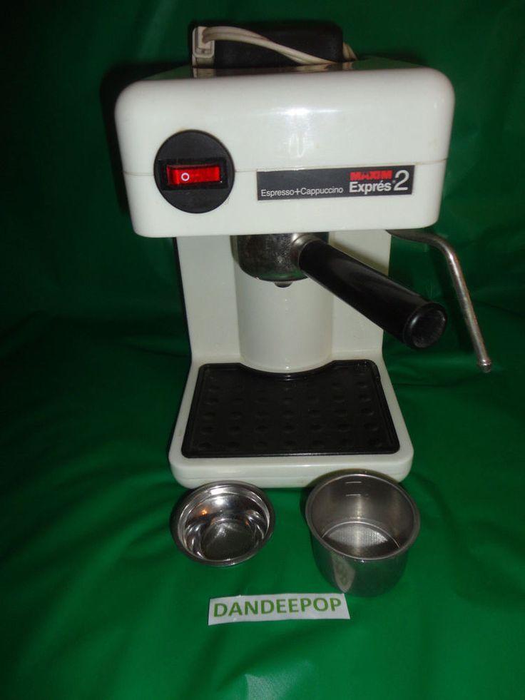 Maxim Epres 2 Espresso & Cappuccino Coffee Maker Machine EX202 find me at www.dandeepop.com