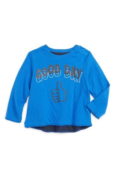 Stella McCartney Kids 'Coby - Good Day/Bad Day' Reversible Sweatshirt (Baby) available at #Nordstrom