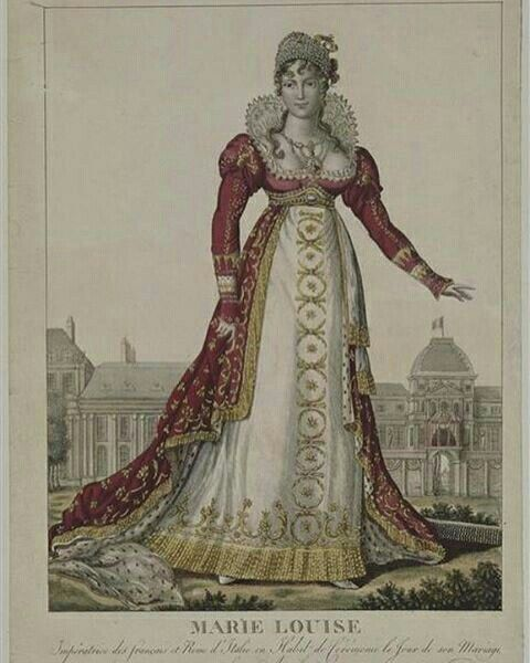 Marie Louise and the dress she was wearing to marry Napoleon