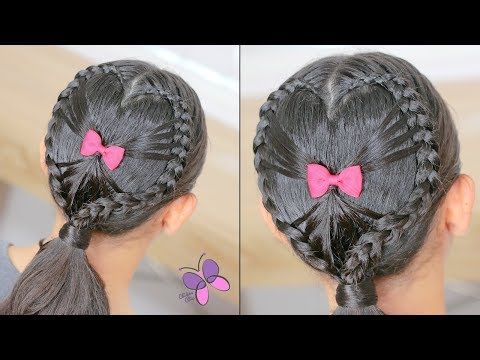 Heart Hairstyle For Valentines Day Youtube Fryzurki