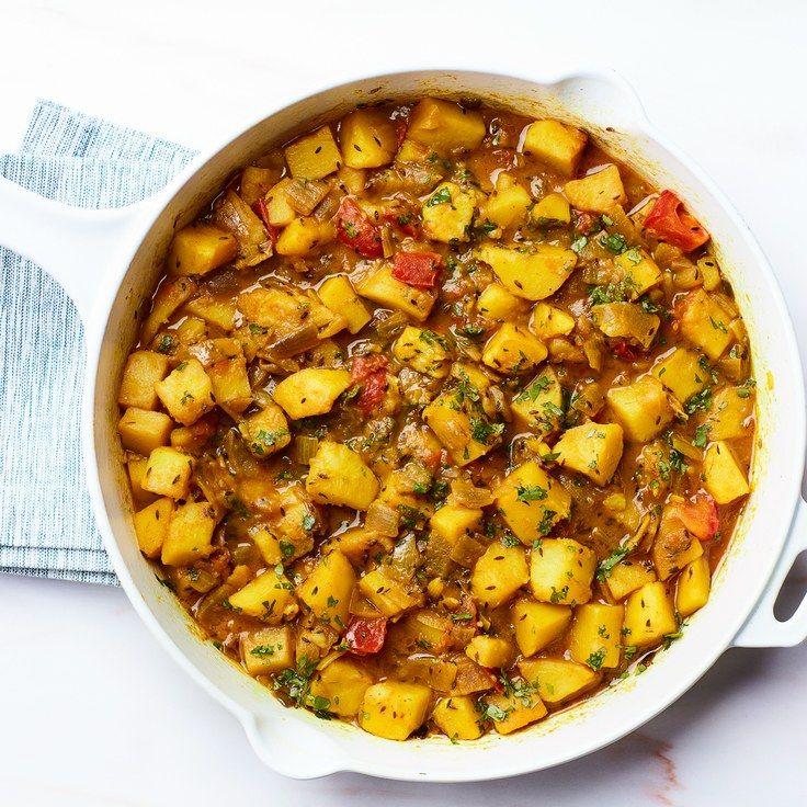 Cumin-Scented Potatoes With Tomatoes (*Ghurma Aloo*)