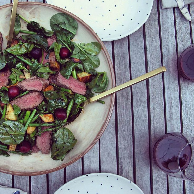 This salad instinctively came together as a response to the contents of my pre-Christmas holiday fridge: a gift of some venison, spinach leaves needing to be eaten, ahandful ofexorbitantly-priced…