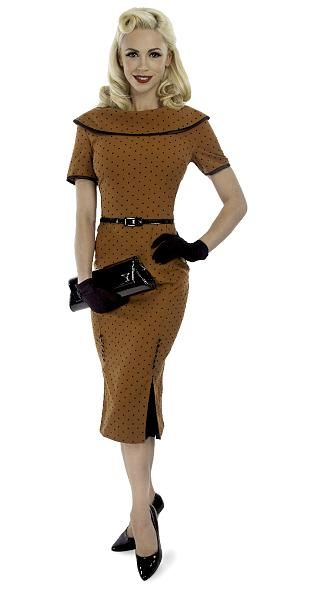 Iced Coffee Dress, Brun/Sort