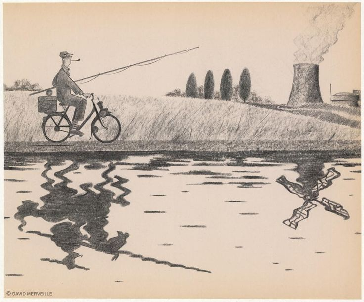 "David Merveille ""Monsieur Hulot"" illustration."