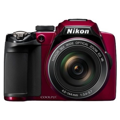 Nikon Coolpix P500 12.1MP Digital Camera with 36x Optical Zoom - Red, $396.99 at Target
