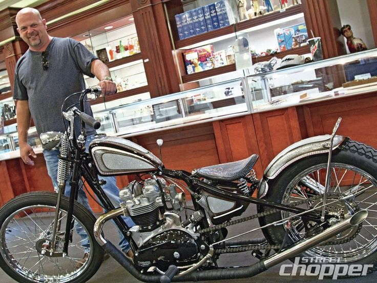'Triumph Bobber'  Chris Richardson/LA Choppers.  Designed & Built for Rick Harrison of Pawn Stars