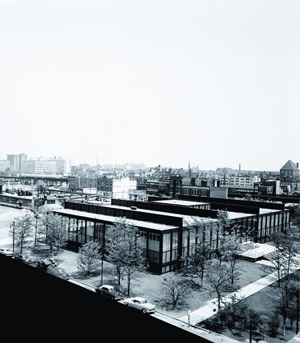<p>Crown Hall, part of the campus he designed for the Illinois Institute of Technology in Chicago, is one of his masterpieces.</p>