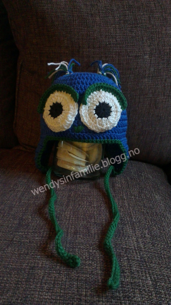 Owl Beanie from bobwilson123 pattern, link to the pattern