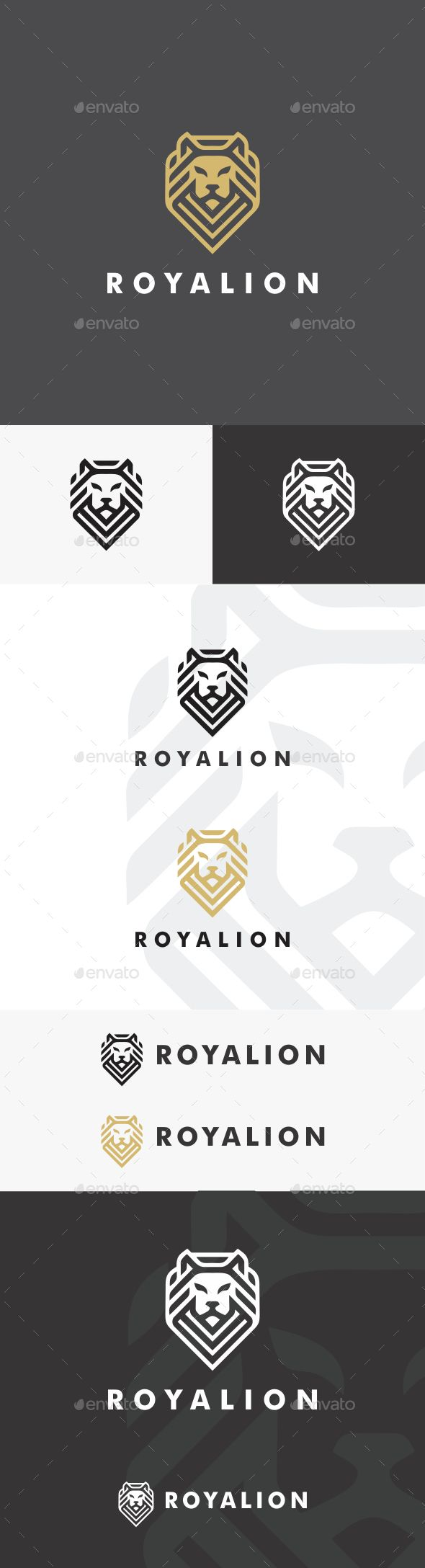 Royal Lion Logo Template - #Animals #Logo #Templates Download here: https://graphicriver.net/item/royal-lion-logo-template/20334455?ref=alena994