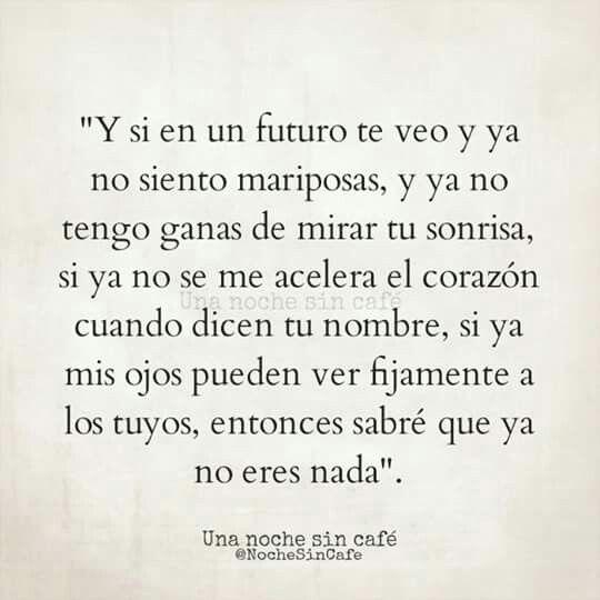 Y si en un futuro te veo