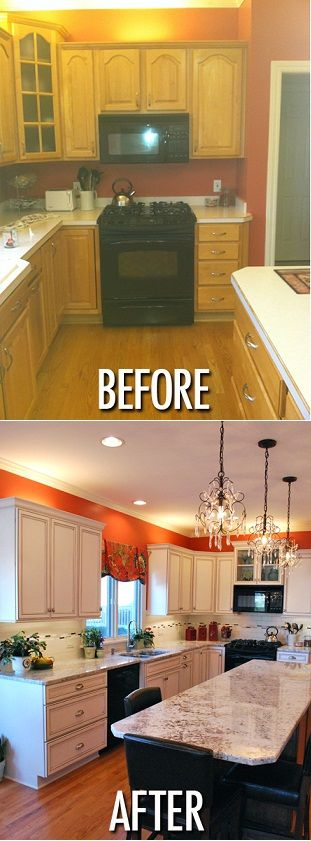 Inde Kitchen Remodeling-Before & After #kitchen remodeling #kitchen cabinets