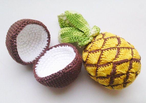 1 PC-Crochet Ananas Spielzeug, Ananas Amigurumi, Fruchtpuppe, Ananas Plushie, Sensorisches Spielzeug, Interaktive Kinderspiele