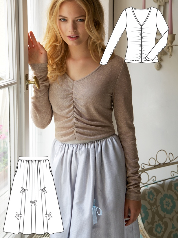 TOUCH esta imagem: Make this pretty skirt, Sew this top today! by BurdaStyle Admin