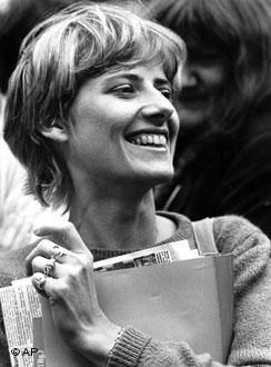 Petra Kelly, Green Party Founder.  Attended American University's School of International Service.  Petra was a senior and president of the international student council while I was a freshman.
