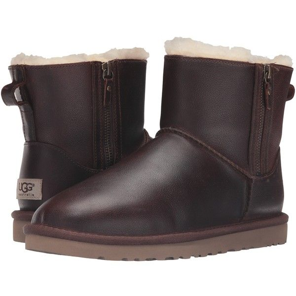 ugg womens classic short leather boots feather black rh turn keymortgage com
