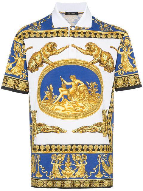 3302861d Versace Classic Scene Polo Shirt | Versace | Printed polo shirts ...