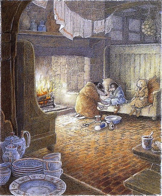 More Inga Moore illustrations from the book Wind in the Willows | Content in a Cottage