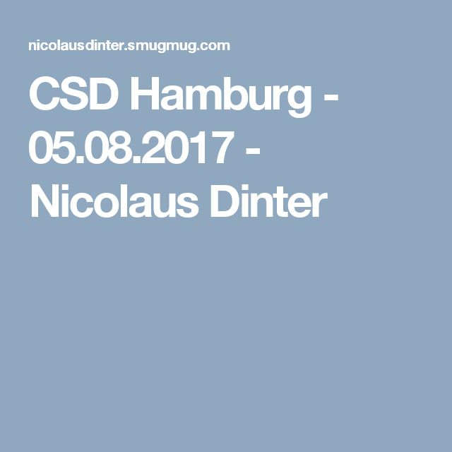 CSD Hamburg - 05.08.2017 - Nicolaus Dinter