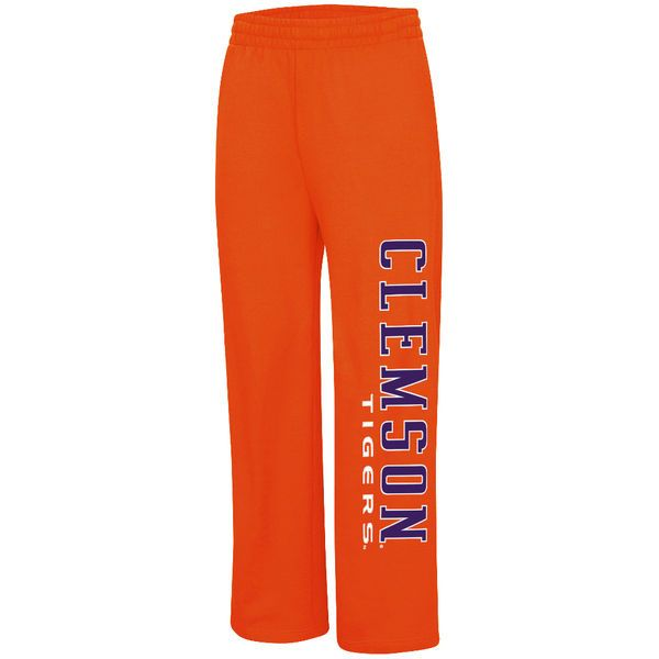 Clemson Tigers Colosseum Vol Full Leg Print Fleece Pants - Orange - $34.99