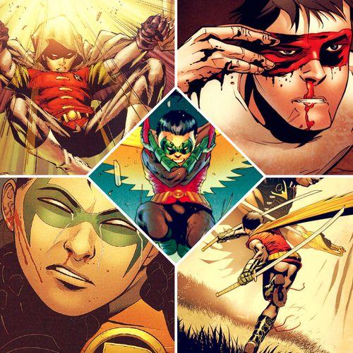 Damian Wayne. I love his hood!!