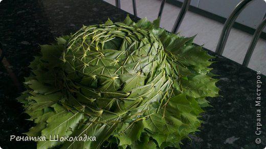 Гардероб Мастер-класс День рождения Праздник осени Плетение МК шляпа из кленовых листьев Листья фото 1