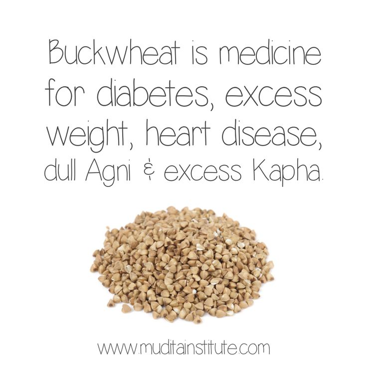 From an Ayurvedic perspective, Buckwheat is Astringent, Pungent, Sweet, Heating and slightly heavy. So, its qualities are – heating, heavy and dry. It is used as 'food medicine' in the treatment of diabetes, excess weight, heart disease, capillary health, dull Agni and excess Kapha (mucous/fluid) conditions. It is also used for grain-free fasts or cleanses (because it is actually a fruit-seed).