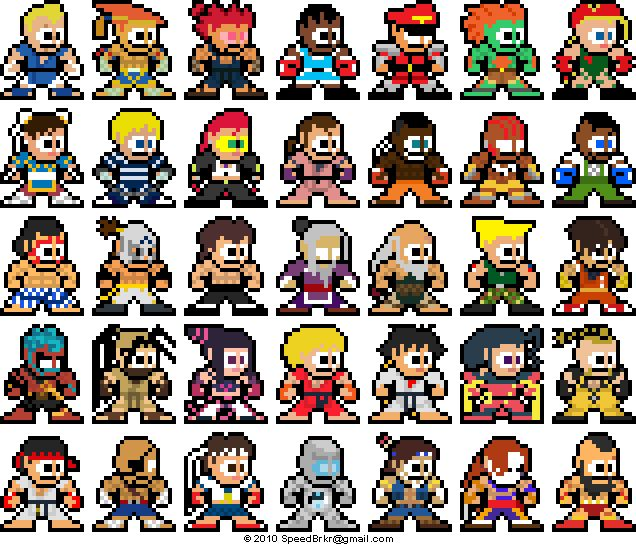 For reference: all the Mega Man-inspired SSFIV sprites by Rockman
