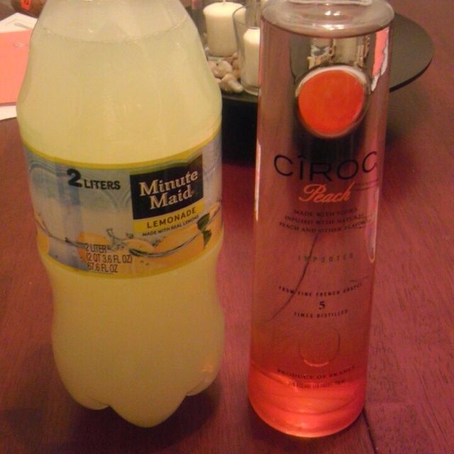 Peach Ciroc and Lemonade