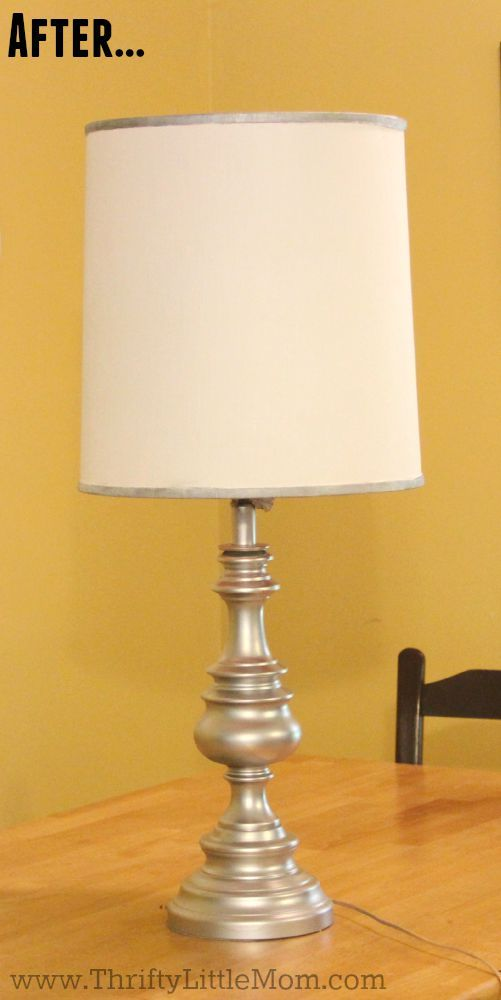 How to spray paint a brass lamp after