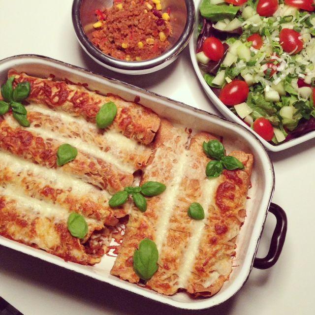 """""""Spicy gratineret glutenfri Tortillas med den lækreste fyld"""